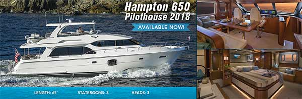 Hampton 650 Pilothouse Motor Yacht