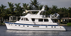 65 Grand Alaskan motor yacht for sale in Fort Lauderdale, 2003 flush deck Lenora D
